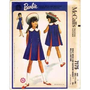 Girls Dress Matching Barbie Doll Costume Size 8 Arts, Crafts & Sewing