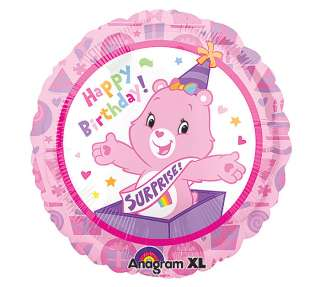 TWO (2) CARE BEAR HAPPY birthday SURPRISE 18 BALLOONS