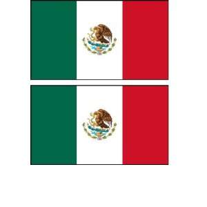 2 Mexico Mexican Flag Stickers Decal Bumper Window Laptop Phone