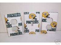 Light Switch Plate/Outlet Covers with Green Bay Packers
