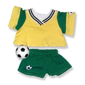Yellow and Green Soccer Outfit Teddy Bear Clothes Fit 14