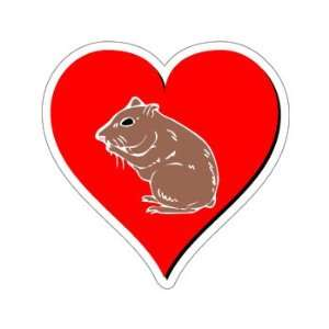 Hamster Love   Window Bumper Sticker Automotive