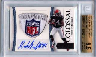 2010 National Treasures Roddy White Auto NFL LOGO Patch SP 1/1 BGS 9.5