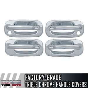 1999 2006 GMC Sierra 4dr Chrome Door Handle Covers (With