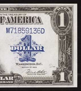 1923 $1 Silver Certificate *Horse blanket note* Uncirculated