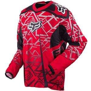 Fox Racing Platinum Jersey   2009   Small/Red Automotive