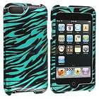 Black Baby Blue Zebra Hard Case Cover for iPod Touch 3rd 2nd Gen 3G 2G