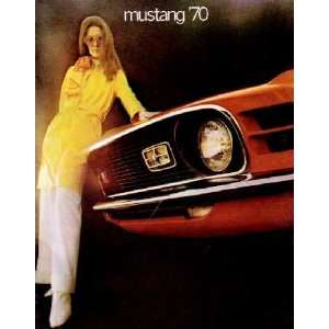 1970 FORD MUSTANG Sales Brochure Literature Book Piece