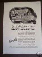 1943 Kermath Sea Raider six Marine boat Engine print ad