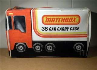 1978 Lesney Matchbox 36 Car Carrying Case