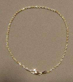 5MM SOLID 14K YELLOW GOLD DIAMOND CUT ROPE ANKLET 10