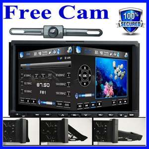 Screen Double Din Car Stereo DVD Player 3D PIP GPS Navigation+CAMERA