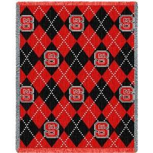 North Carolina State University Plaid Jacquard Woven Throw