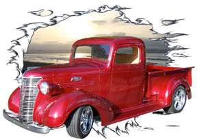 1938 Candy Red Chevy Pickup Truck Hot Rod SS T Shirt 38