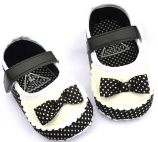 Black white Mary Jane infant soft sole kids toddler baby girl shoes 3