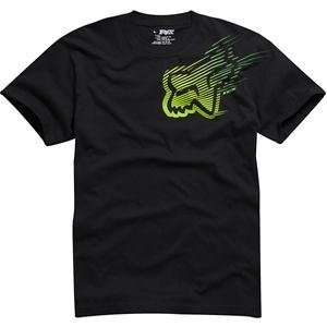 Fox Racing Rapid T Shirt   Large/Black/Green Automotive
