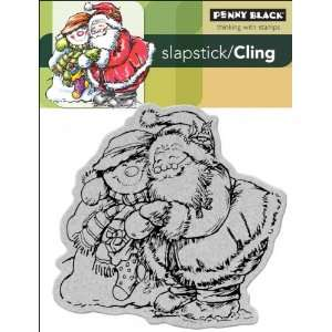 Black Cling Rubber Stamp 4X5.25 Holiday Hug Arts, Crafts & Sewing