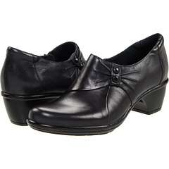 Clarks Womens Wish Envy Black Leather Dress Shoes Various Sizes NIB $