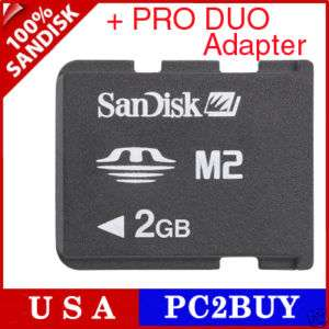 2GB Sandisk M2 Micro Memory Stick PRO DUO for SONY