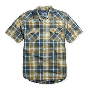 Fox Racing Darryl Woven Shirt   Large/Sulpher Blue