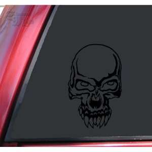 Demon Skull #2 Vinyl Decal Sticker   Black