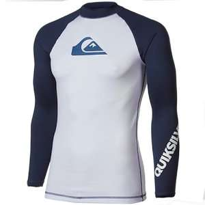 Quiksilver All Time Long Sleeve Rashguard   White/Navy