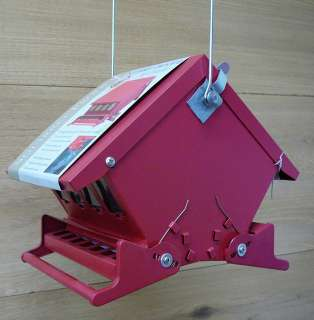 Red Mini Absolute II Squirrel Proof Bird Feeder 047977004983