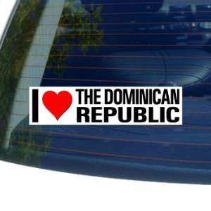 I Love Heart THE DOMINICAN REPUBLIC   Window Bumper
