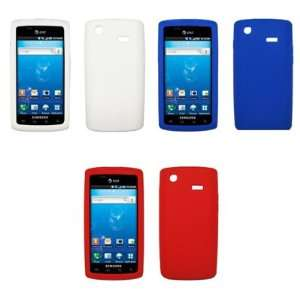 3 Pack of Premium Silicone Gel Skin Cover Cases (Blue, Red