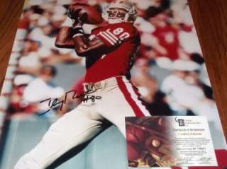 Jerry Rice San Francisco 49ers Hall of Famer HOF Autograph 16x20 GAI