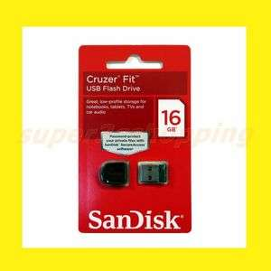 SanDisk 16GB 16 GB Cruzer Fit USB 2.0 Flash Memory Pen Drive SDCZ33
