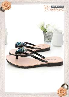 Womens Sweet Heart Flip Flop Thongs Sandals 2 Colors