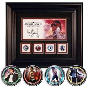 Michael Jackson Photo Glitter Framed Coins Set