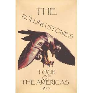The Rolling Stones   Concert Poster (1975) Tour United