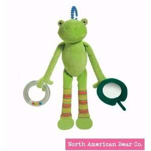North American Bear Pond Pets Frog Activity Squeaker, Green Baby