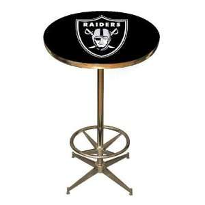 Raiders NFL 40in Pub Table Home/Bar Game Room