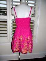 FREE PEOPLE PINK FLORAL LACE DRESS SZ XS