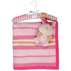 Living Textiles Baby   Cotton Knitted Blanket & Toy   Extra Large