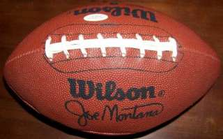 Johnny Unitas Signed Autographed Wilson Football JSA