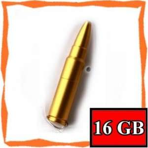 New 16GB Cool Gold Bullet Memory Stick USB Flash Drive