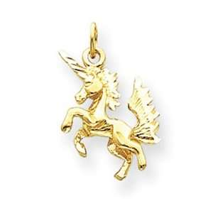 14k Dancing Unicorn Charm   Measures 18x15mm   JewelryWeb Jewelry
