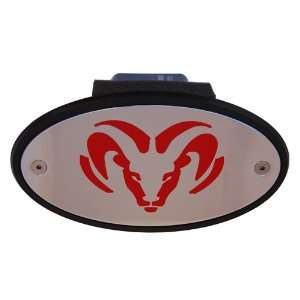 Dodge Ram Head Hitch Receiver Cover Red Automotive