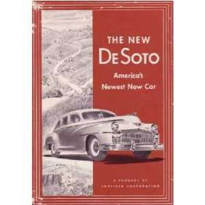 1946 DESOTO Sales Brochure Literature Book Piece Automotive