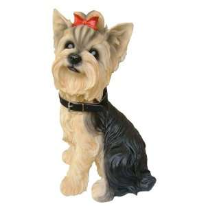Yorkie Yorkshire Terrier Dog Breed Themed Polyresin