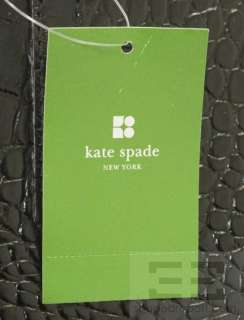 Kate Spade Black Leather Alligator Embossed Carlsbad Quinn Tote Bag