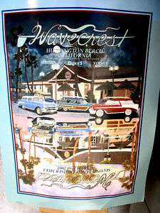 Hot Rod Surfing, Huntington Beach Meet Poster 02