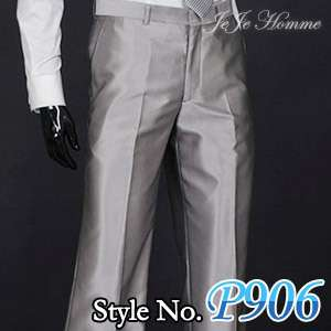jeje Mens Slim Fit Silver Dress Pants trousers US30