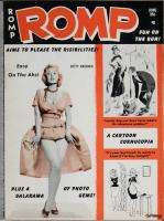 Romp 1960 June Vintage Humorama Bettie Page Bill Ward GGA racy pinup