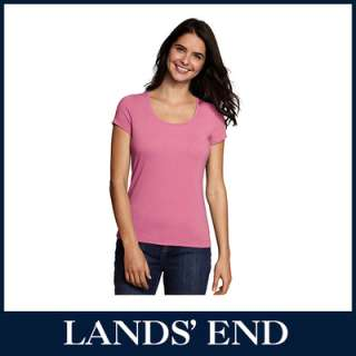 LANDS END Damen T Shirt Shirt Kurzarm Rundhals *Sale*