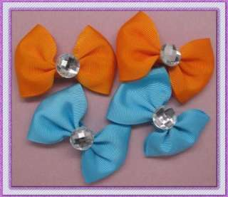 BABY TODDLE HAIR BOW CLIP BUTTERFLY DIAMOND ALLIGATOR CLIP